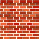 Naadloos patroon van rode bakstenen muur met textuur royalty-vrije illustratie