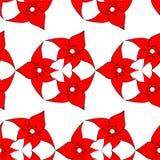 Naadloos patroon van rode bloemen Stock Foto's