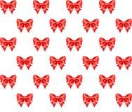Naadloos patroon van rode bogen Royalty-vrije Stock Foto's