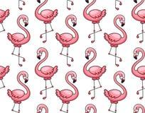 Naadloos patroon van roze flamingo's vector illustratie