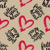 Naadloos patroon van roze harten Stock Foto's