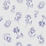 Naadloos patroon van rozen Royalty-vrije Stock Foto's
