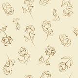 Naadloos patroon van rozen Stock Afbeelding