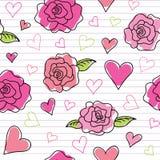 Naadloos patroon van rozen vector illustratie