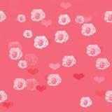 Naadloos patroon van rozen Royalty-vrije Stock Afbeeldingen