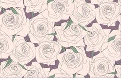 Naadloos patroon van rozen Knoppen van rozen Stock Foto