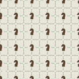 Naadloos patroon van schaakridders Stock Fotografie