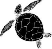 Naadloos patroon van schildpadden op een zwarte achtergrond Stock Afbeelding