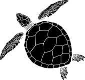 Naadloos patroon van schildpadden op een zwarte achtergrond Royalty-vrije Stock Foto's