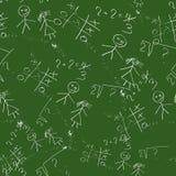 Naadloos patroon van schoolraad vector illustratie