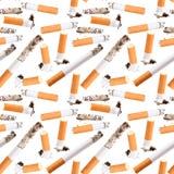 Naadloos patroon van sigaretuiteinde Stock Foto's