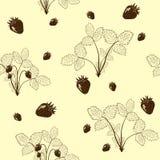 Naadloos patroon van silhouetaardbei stock illustratie