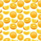 Naadloos patroon van sinaasappelen Stock Fotografie