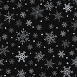 Naadloos patroon van sneeuwvlokken Royalty-vrije Stock Foto's