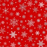 Naadloos patroon van sneeuwvlokken Royalty-vrije Stock Fotografie