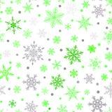 Naadloos patroon van sneeuwvlokken Stock Foto's