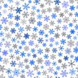 Naadloos patroon van sneeuwvlokken Stock Foto