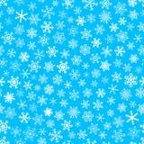 Naadloos patroon van sneeuwvlokken Stock Fotografie
