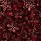 Naadloos patroon van sneeuwvlokken Stock Afbeeldingen