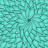 Naadloos patroon van spiraalvormige blauwe lotusbloembloem Stock Afbeeldingen