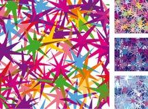 Naadloos patroon van sterren Royalty-vrije Stock Foto