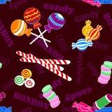 Naadloos patroon van suikergoed en bonbon royalty-vrije illustratie
