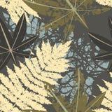 Naadloos patroon van tropische installaties vector illustratie