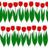 Naadloos Patroon van tulpen op een rij Royalty-vrije Stock Foto