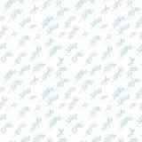 Naadloos patroon van twijgen van Lelietje-van-dalen op witte achtergrond Royalty-vrije Stock Foto's