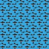 Naadloos patroon van uitstekende tweedekker Stock Foto