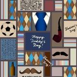 Naadloos patroon van vadersdag royalty-vrije illustratie