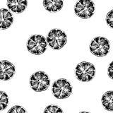 Naadloos patroon van vectorillustratie van oranje plakken Royalty-vrije Stock Afbeelding