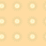 Naadloos patroon van vectorillustratie van oranje plakken Royalty-vrije Stock Foto
