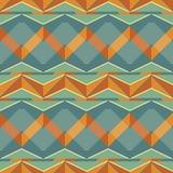 Naadloos patroon van veelvoudige zigzag in retro kleuren Stock Afbeeldingen