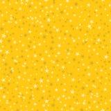 Naadloos patroon van vele sneeuwvlokken op gele achtergrond christus Stock Foto