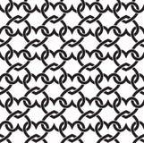 Naadloos patroon van verbindingen in vorm van harten royalty-vrije illustratie