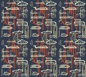 Naadloos patroon van verkeer. Middelen van vervoer Royalty-vrije Stock Foto