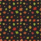 Naadloos patroon van verschillend bladmarihuana Stock Foto's