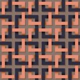 Naadloos patroon van vierkante lijn. Royalty-vrije Stock Afbeelding