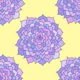 Naadloos Patroon van Violet Flowers Stock Afbeelding