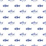 Naadloos patroon van vissen Stock Afbeelding