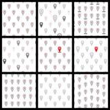 Naadloos patroon van vlakke pictogrammenplaats Vector Stock Fotografie