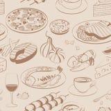Naadloos patroon van voedsel Royalty-vrije Stock Foto