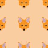 Naadloos patroon van vossnuiten Stock Foto's