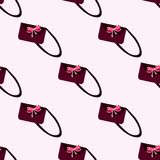 Naadloos patroon van vrouwens handtassen Royalty-vrije Stock Afbeelding