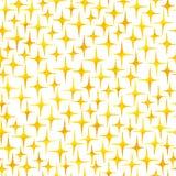 Naadloos patroon van waterverfhand getrokken heldere gele glanzende sterren royalty-vrije illustratie