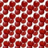Naadloos patroon van waterverfkersen op witte achtergrond royalty-vrije stock foto