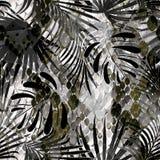 Naadloos patroon van wild ontwerp Huidachtergrond met waterverfeffect Modieus patroon voor textiel, pakketontwerp stock illustratie