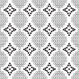 Naadloos patroon van witte cirkels met diamanten Stock Foto