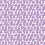 Naadloos patroon van witte whorls tierelantijntjes Royalty-vrije Stock Foto's